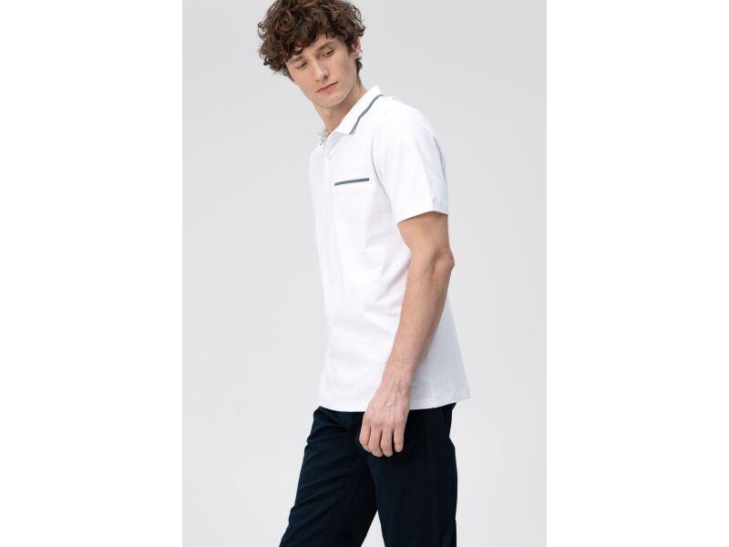 AUDIMAS Tamprūs medv. polo marškinėliai 2011-527 White