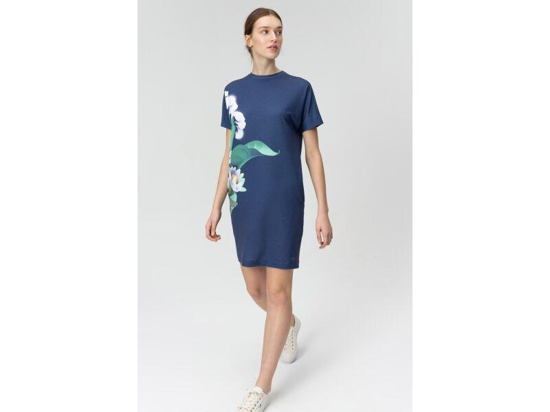 AUDIMAS Trumpa tampri marginta suknelė 20FL-012 Water Printed