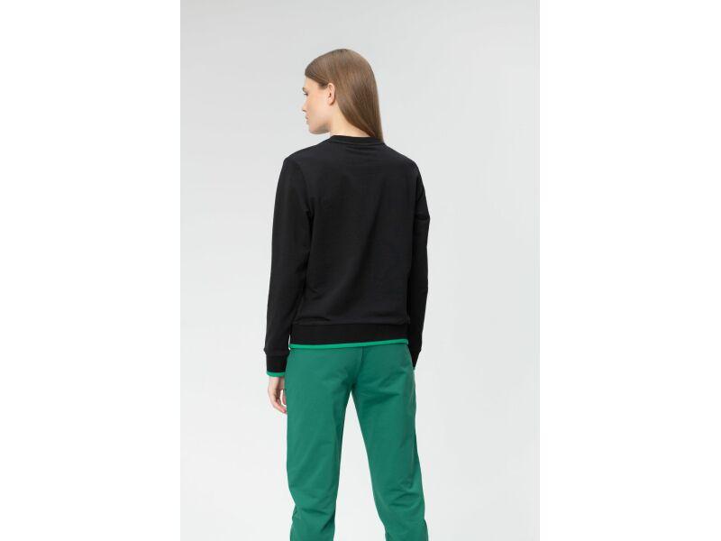 AUDIMAS Tamprus medvilninis džemperis 20LT-009 Black