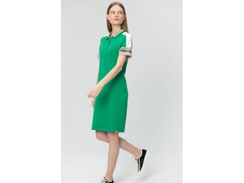 AUDIMAS Švelnaus modalo polo suknelė 20LT-010 Jolly Green