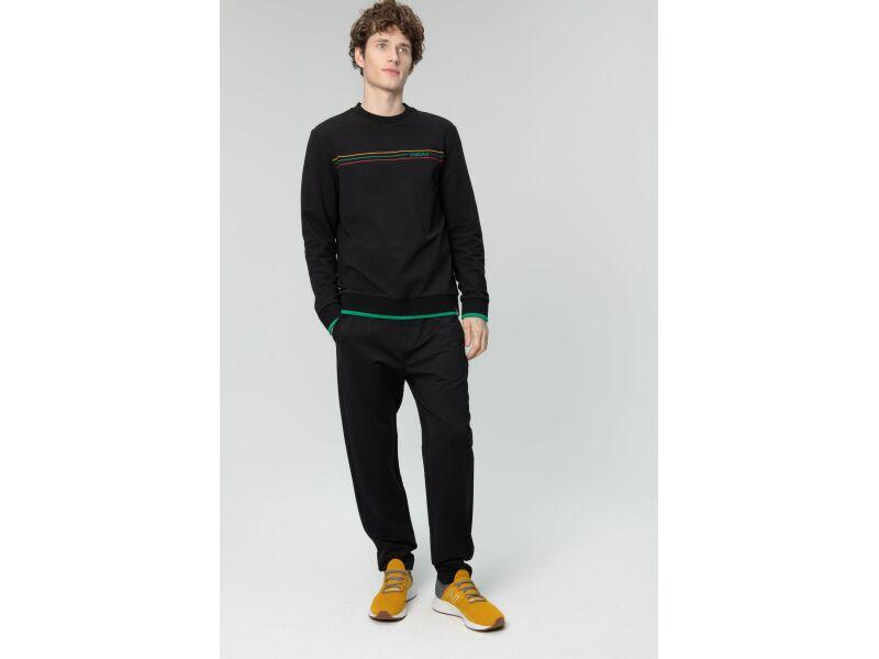 AUDIMAS Medvilnės TERRY trikotažo džemp. 20LT-409 Black