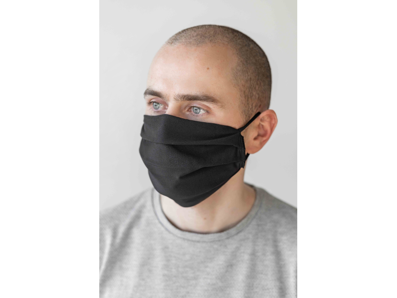 AUDIMAS Reusable protective mask 2 PCS Black