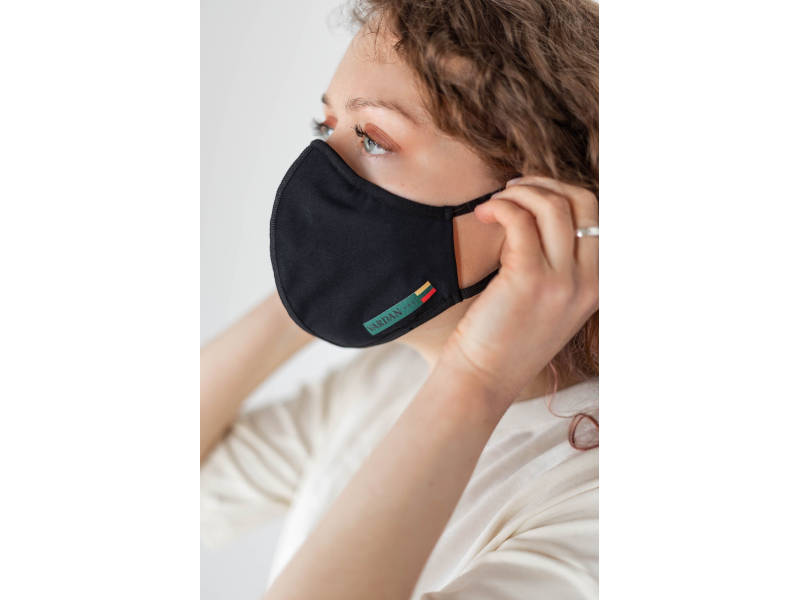 AUDIMAS Reusable 3D mask Black