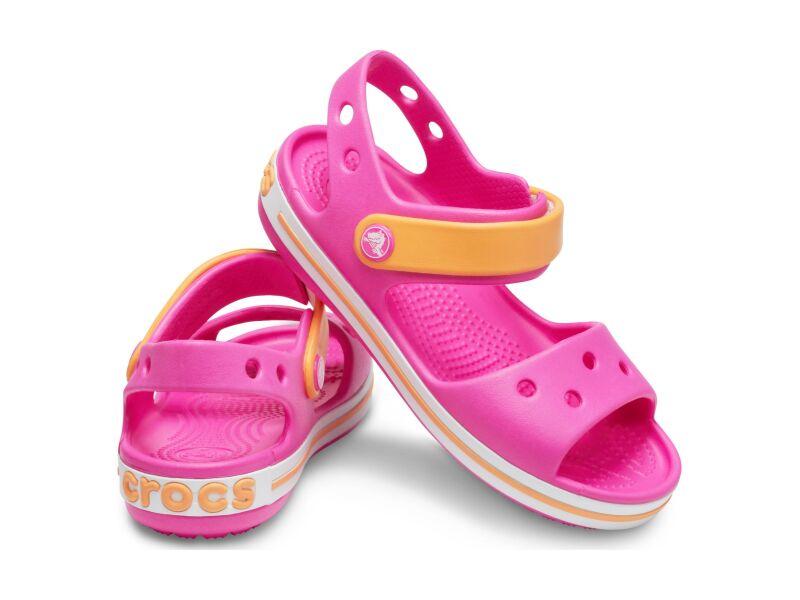Crocs™ Kids' Crocband Sandal Electric Pink/Cantaloupe
