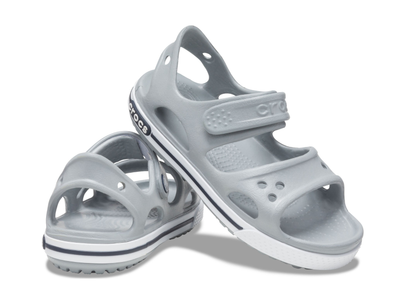 Crocs™ Kids' Crocband II Sandal PS Light Grey/Navy