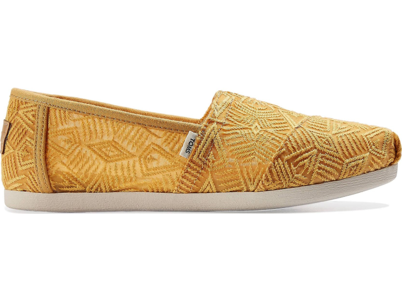 TOMS Geo Lace Women's Alpargata Golden Yellow