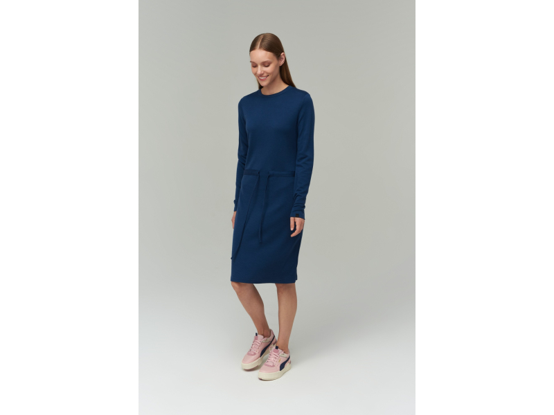 AUDIMAS Merino ir bambuko pluošto suknelė 2021-087 Insignia Blue