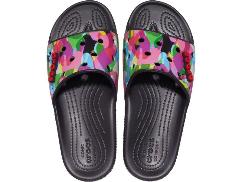 Crocs™ Classic Bubble Block Slide Black/Multi