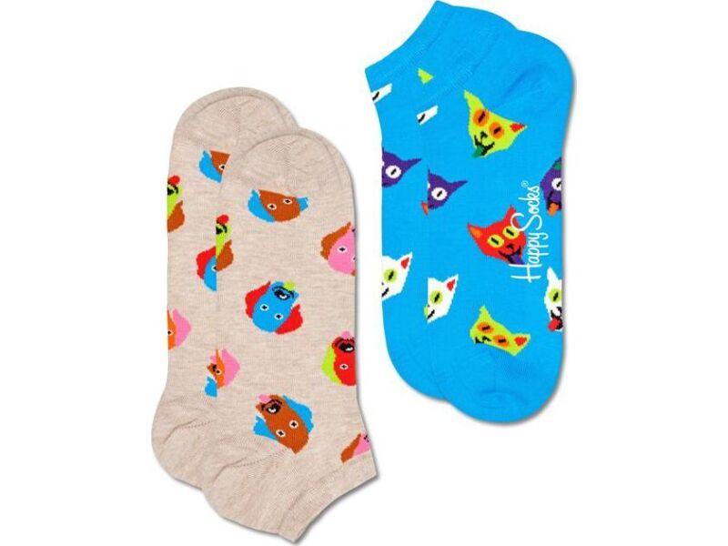 Happy Socks 2-Pack Dog & Cat Low Sock Multi 1700
