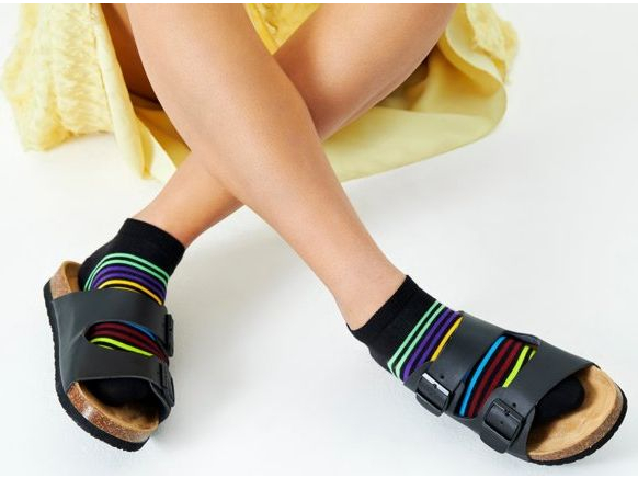 Happy Socks Half Stripe Low Sock Multi 9300