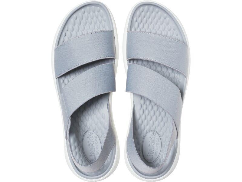 Crocs™ Literide Stretch Sandal Womens Light Grey/White