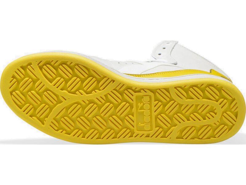 DIADORA Mi Basket Used White/Empire Yellow