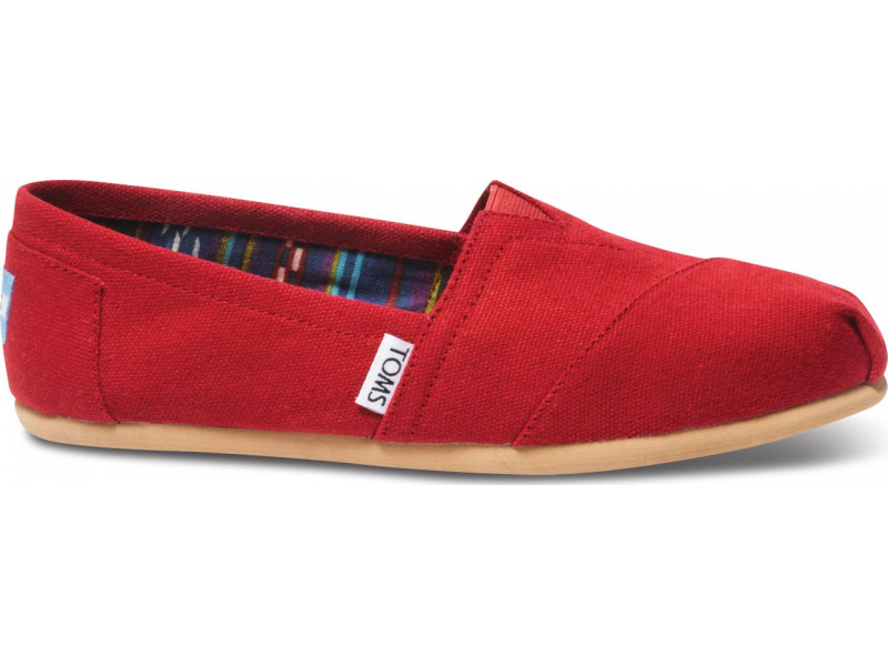 TOMS Canvas Women's Classic Alpargata Nl Red