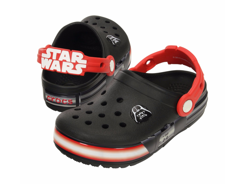 Crocs™ Kids' Crocslights Star Wars Darth Vader Clog Black/Flame