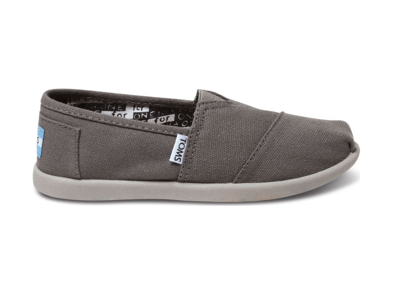 TOMS Canvas Junior's Classic Alpargata Ash