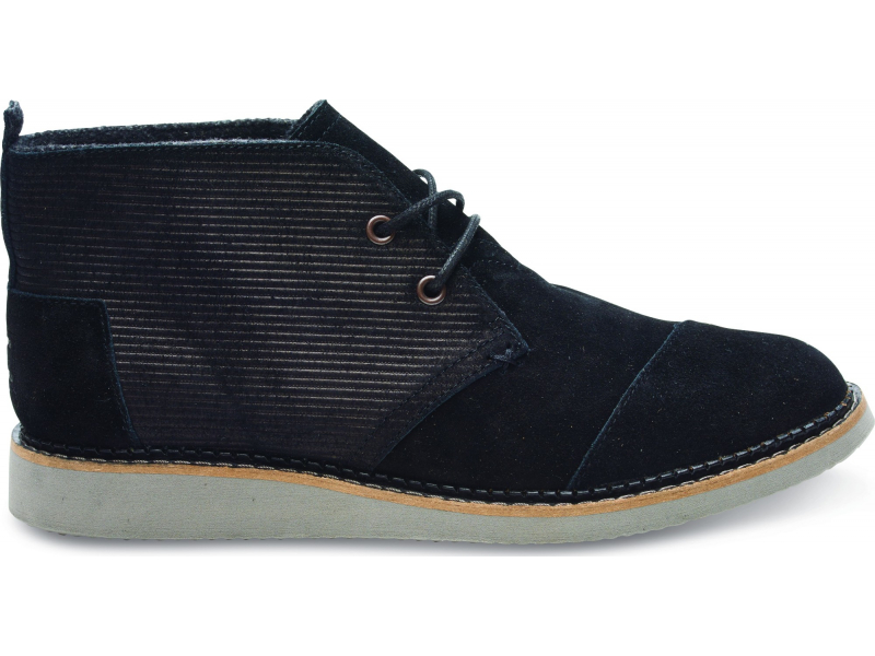 TOMS Embossed Suede Men's Mateo Chukka Boot Black