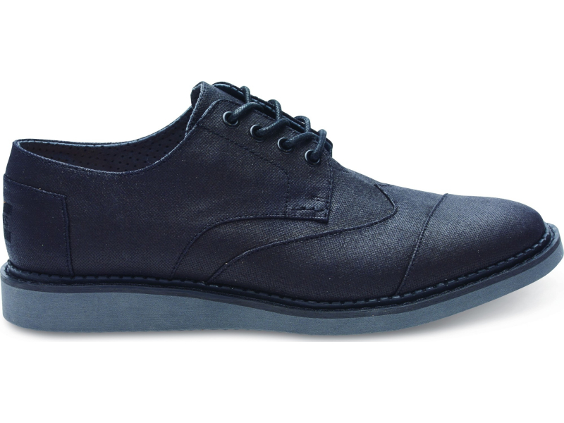 TOMS Coated Canvas Men's Brogue Black