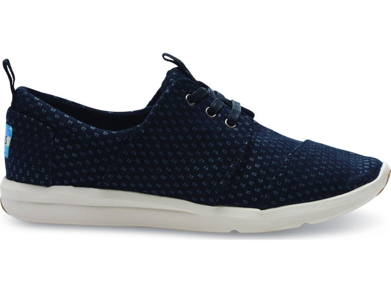 TOMS Textile Women's Del Rey Sneaker Black/Silver