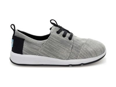 TOMS Textured Woven Junior's Del Rey Sneaker Black