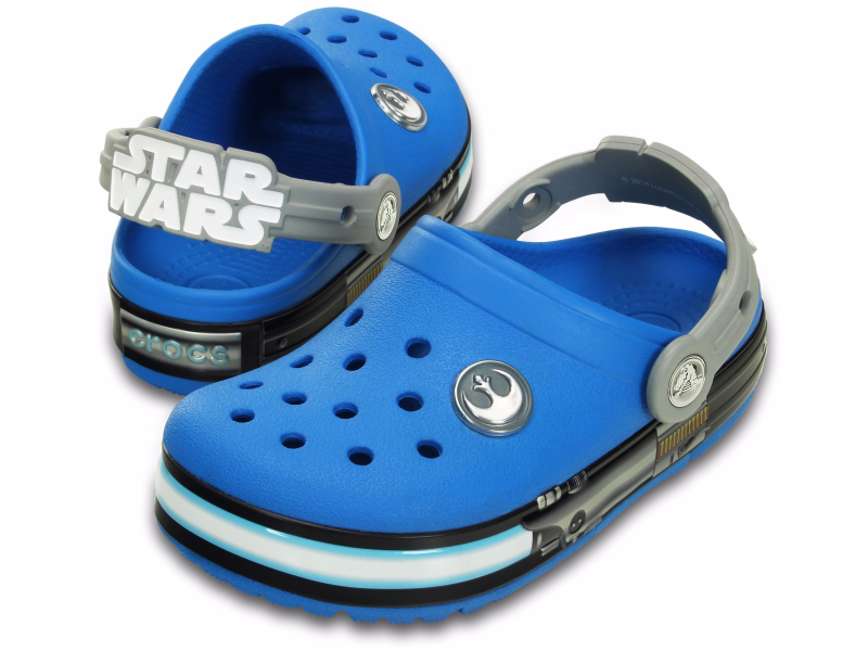 Crocs™ Kids' Crocslights Star Wars Jedi Clog Ocean/Light Grey