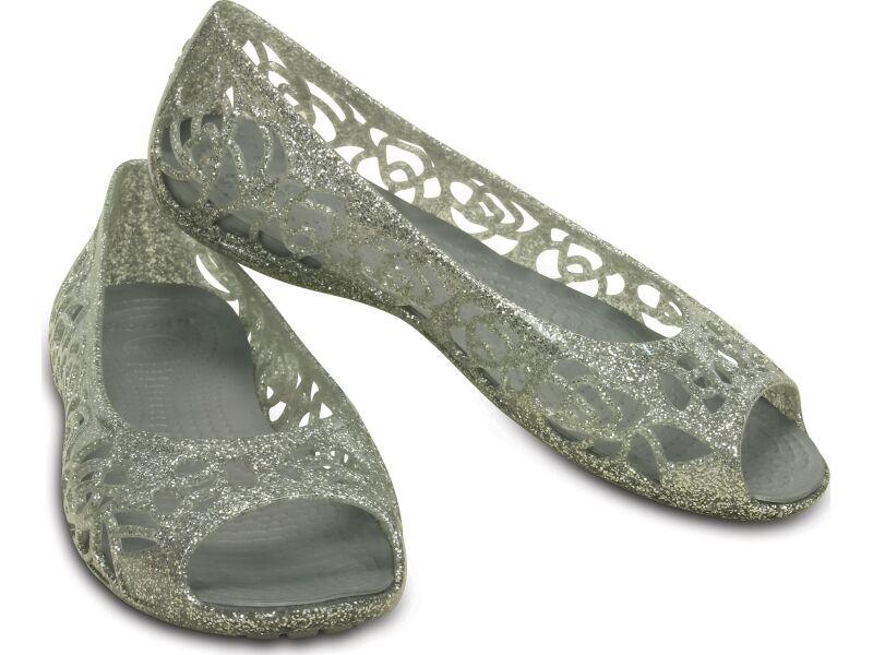 Crocs™ Isabella Glitter Flat GS Silver