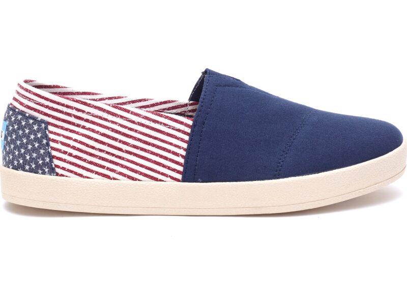 TOMS Canvas Flag Men's Avalon Sneaker Americana
