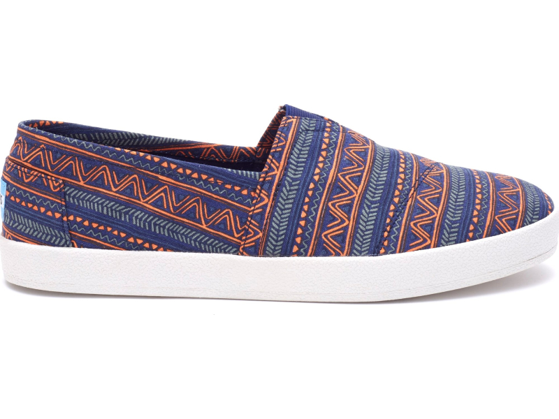 TOMS Zig Zag Men's Avalon Sneaker Blue/Orange