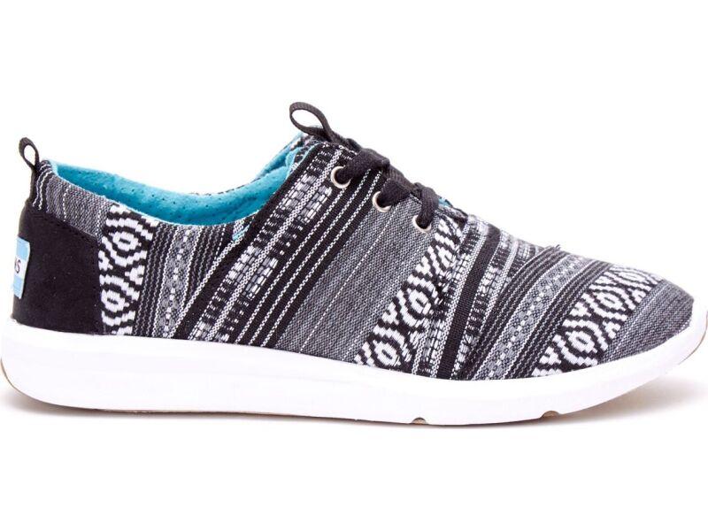 TOMS Cultural  Woven Women's Del Rey Sneaker Black/White