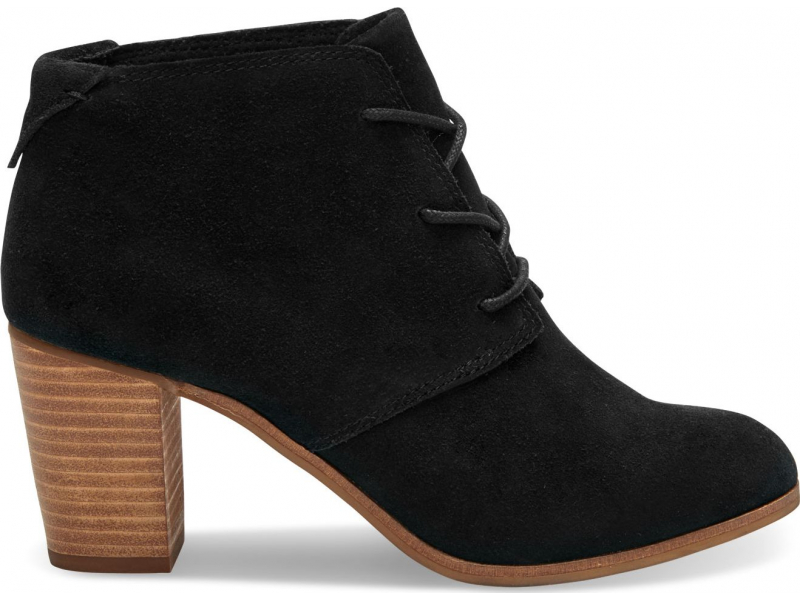 TOMS Suede Women's Lunata Lace-Up Black