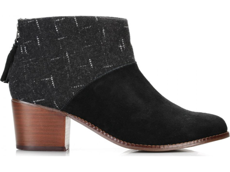 TOMS Wool Women's Leila Bootie Black/Dotted