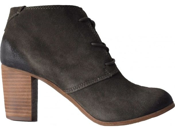 TOMS Suede Women's Lunata Lace-Up Chocolate Brown
