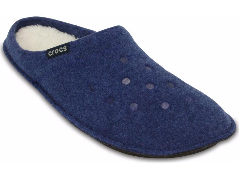 Crocs™ Classic Slipper Cerulean Blue/Oatmeal