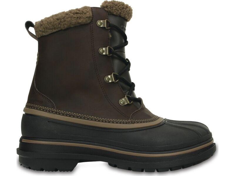 Crocs™ Men's AllCast II Boot Espresso/Black