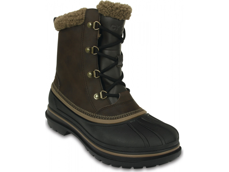 Crocs™ Men's AllCast II Boot Espresso/Black