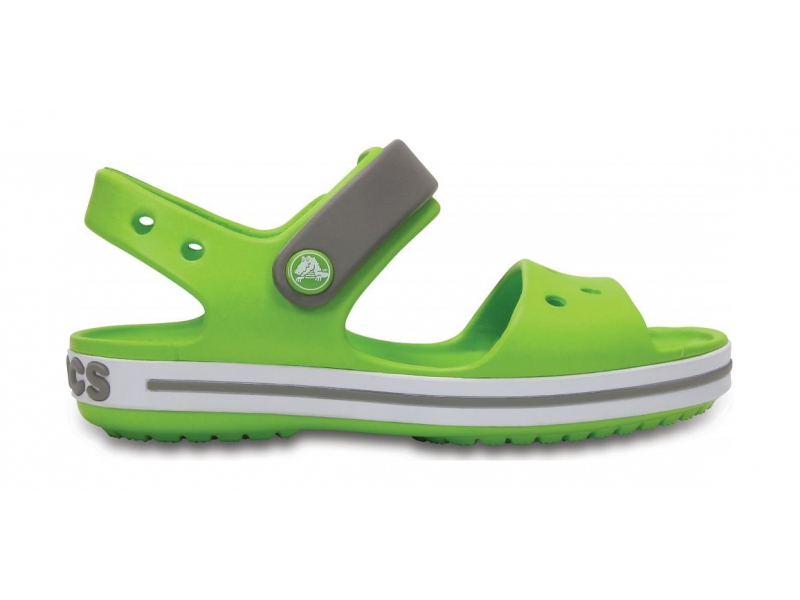 Crocs™ Kids' Crocband Sandal Volt Green/Smoke