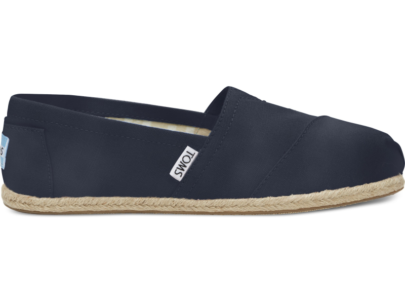 TOMS Washed Canvas Rope Sole Women's Alpargata Navy