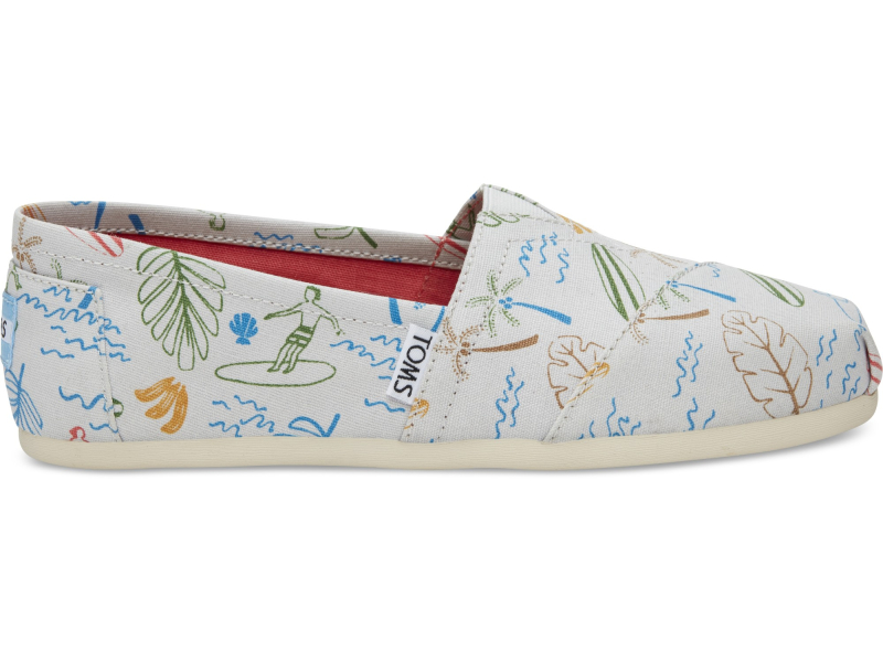 TOMS Surf City Women's Alpargata Grey Multi