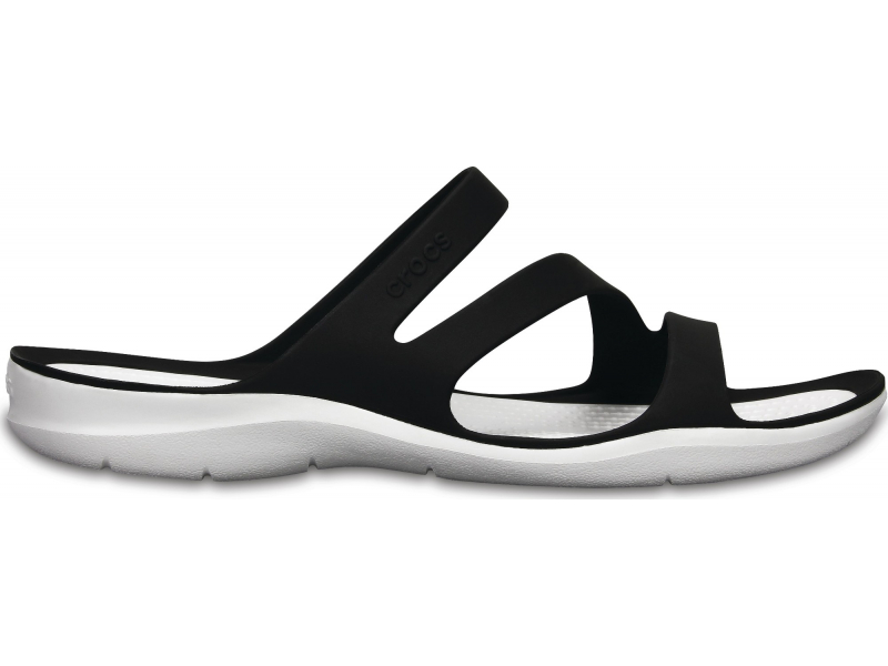 Crocs™ Women's Swiftwater Sandal Black/White
