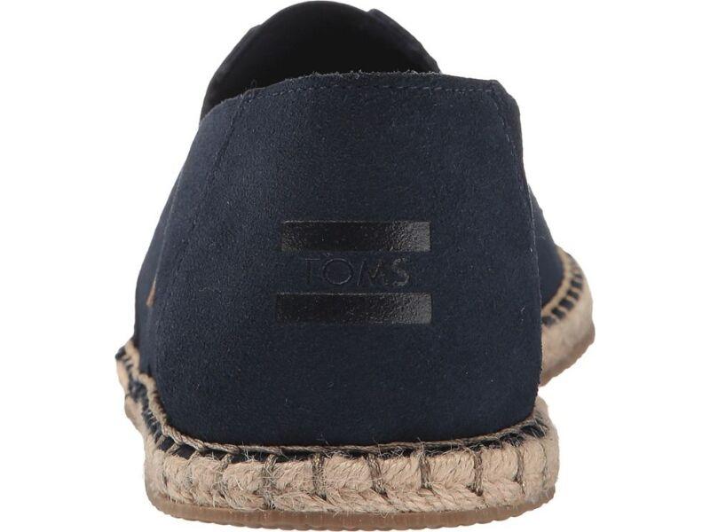 TOMS Suede Blanket Stitch Men's Alpargata Navy