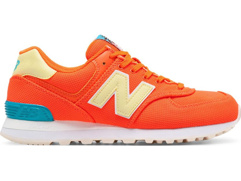 New Balance WL574 Miami Palms Sunrise/Vivid Ozone Blue