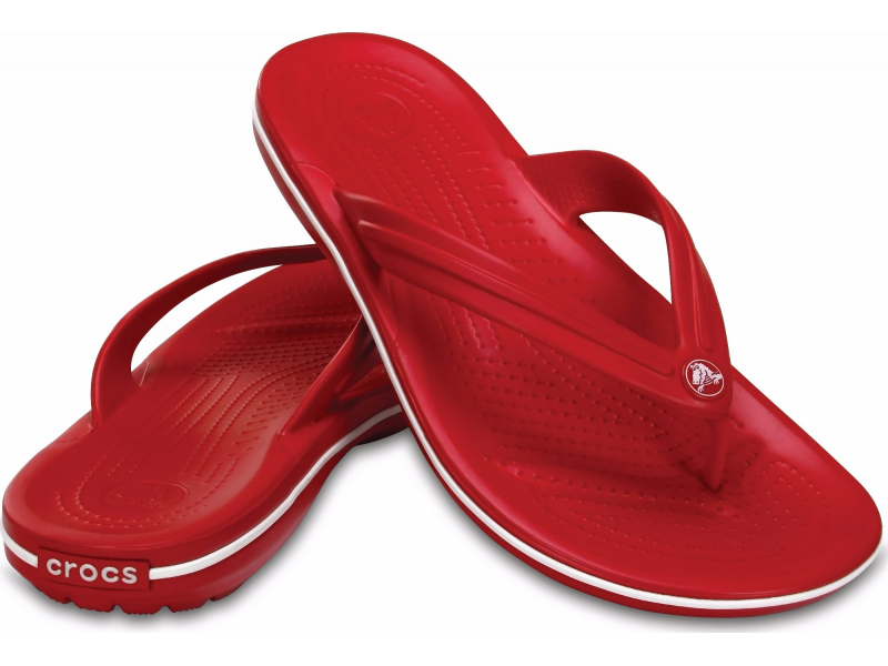 Crocs™ Crocband™ Flip Pepper/White
