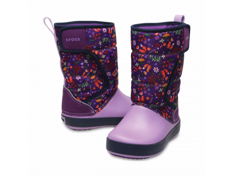 Crocs™ Lodgepoint Graphic Snow Boot Kid's Ultraviolet/Iris