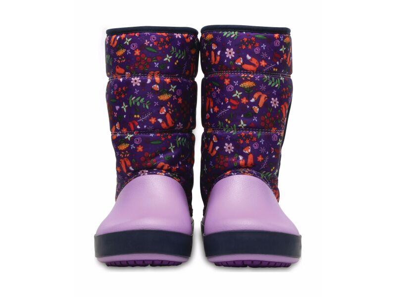 Crocs™ Lodgepoint Graphic Snow Boot Kid's Ultraviolet/Iris