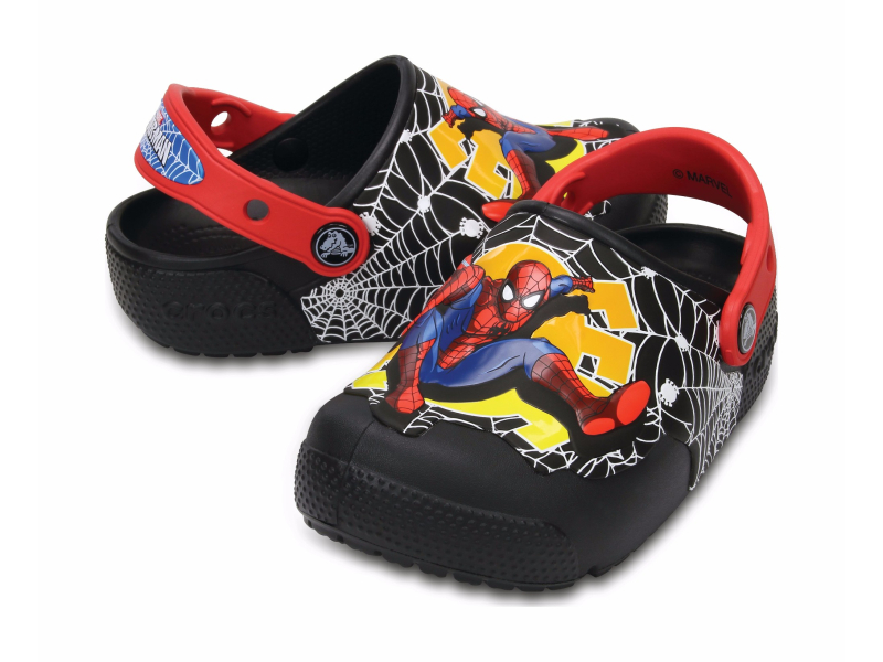 Crocs™ Funlab Lights Spiderman Black