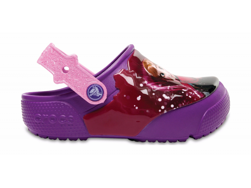 Crocs™ Funlab Lights Frozen Clog Berry