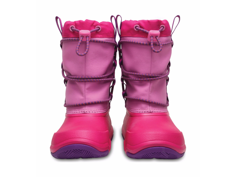 Crocs™ Swiftwater Waterproof Boot Kid's Party Pink/Candy Pink