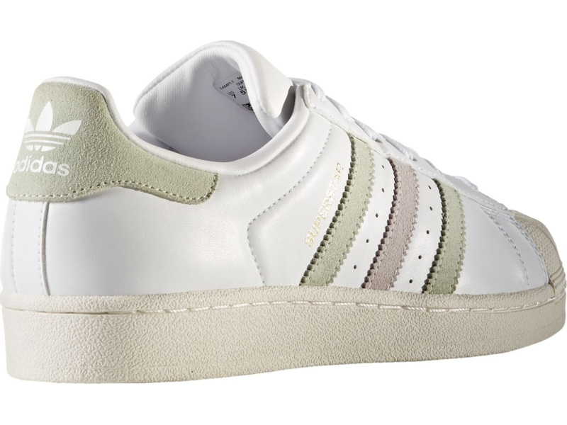 ADIDAS Superstar W White/Linen Green