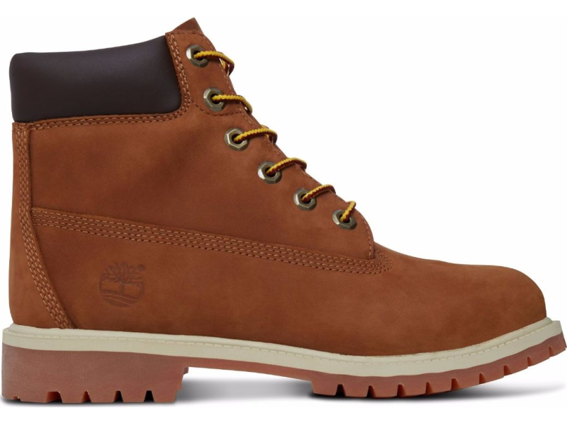 Timberland 6 In Premium Boot Junior's Rust Nubuck With Honey