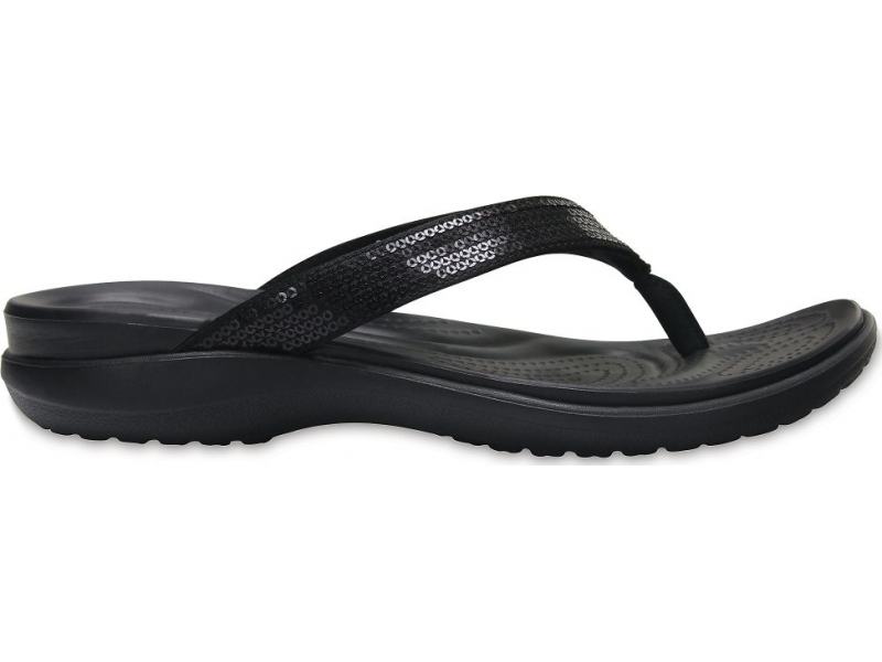 Crocs™ Capri V Sequin Flip Black