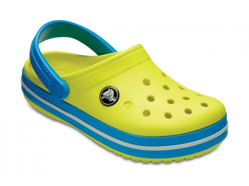 Crocs™ Kids' Crocband Clog Tennis Ball Green/Ocean